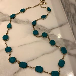 Kate Spade ♠️ turquoise gemstone necklace — NWOT